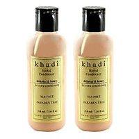 Khadi Natural Shikakai & Honey Hair Conditioner- Sls & Paraben Free - 210ml (Set