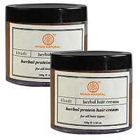 Khadi Natural Herbal Protein Hair Cream- 100g (Set Of 2)