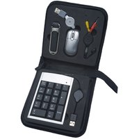 New Portable USB Travel Kit Bag USB Hub Mouse Number Keyboard 5 In 1 Kit