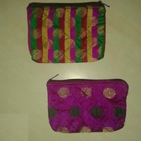 2 Makeup + Stationary Zippered Fabric Pouches With Free Gift (Holi Gulal Pack )
