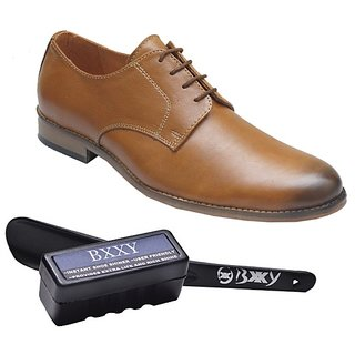 Bxxy Tan Leather Derby Shoes