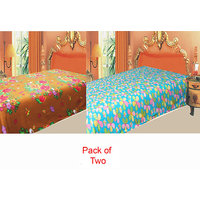 Swank  Pack  Of 2 Color's Polar Fleece Ac Blanket GKC1447