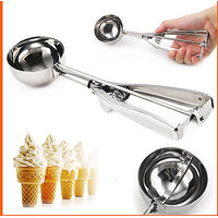 Stainless Steel Ice Cream Scoop Multi Use Food Spoon Kitchen Essentials - 79578590
