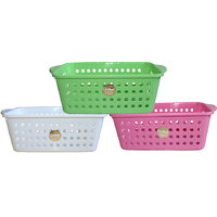 Chetan Audyy Plastic Fruit & Vegetable Basket (Multicolor)