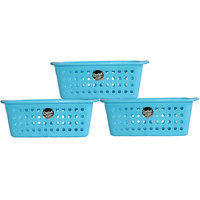 Chetan Audyy Plastic Fruit & Vegetable Basket (Blue Color)