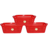 Chetan Audyy Plastic Fruit & Vegetable Basket (Red Color)