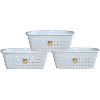 Chetan Audyy Plastic Fruit & Vegetable Basket (white Color)