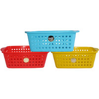 Chetan Audyy Plastic Fruit & Vegetable Basket (Multi Color)