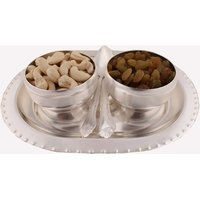 GS Museum Silver Plated 2 Bowl Set With Dryfruit