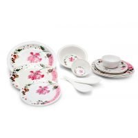 Czar Elite Pink Flower 16 Pcs Dinner Set