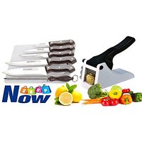 Combo Of 8 Pcs Knife Set With Vegetable Cutter