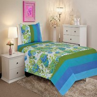 Salona Bichona Single Bedsheet with One Pillow Cover
