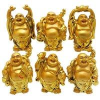 IDeals Set Of 6 Golden Buddha