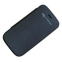 canvas 4 micromax canvas 4 a 210 flip cover - BLACK