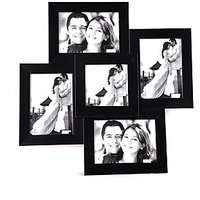 Wens Black MDF 5 Pictures Photo Frame