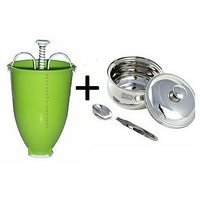 Combo Offer Ezy Vada Mekar& Stainless Steel Ghee Pot