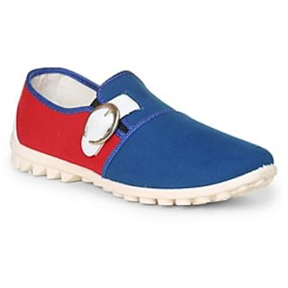 Thisrupt Mens Blue & Red Canvas Shoes TSH00009