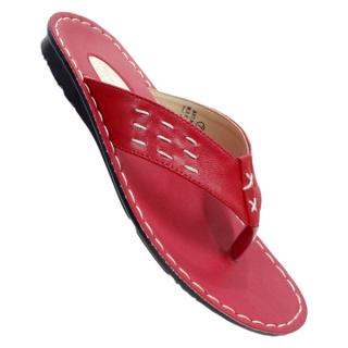 Grebe Tread Footwear Men's Red Flip Flop