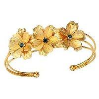 Guddus 24 Karat Gold Foil Bracelet Green