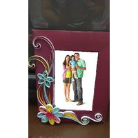 Handmade photo frame with Quilling Work