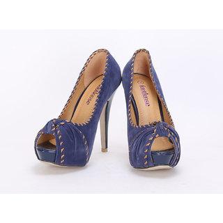 20degreef Women's Blue Casual Heels