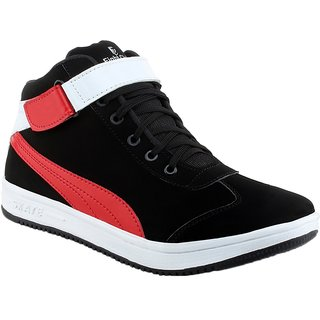 Shooz Men's Classic Black & Red Shoes