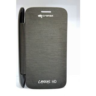 Micromax Canvas HD A116 Black Flip Cover available at ShopClues for Rs.147