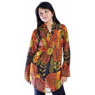 Women Multicolored Printed Cotton Top Kurta Kurti