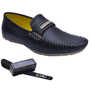 Bxxy Black Comfortable Slip-on Loafers