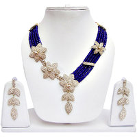 Beautiful Necklace Set Blue And Off White