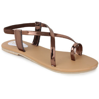 Do Bhai Women's Casual Sandal205-Copper