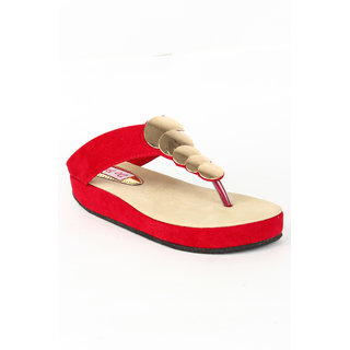 Do Bhai Women's Casual Slip-onCoin-Red
