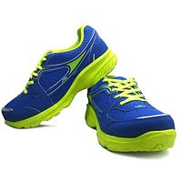 Fast Trax Royal Blue And Green Mens Sports Shoes