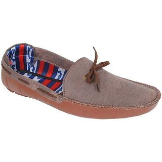 Frankfurt Brown Canvas Slip-On Men Loafers