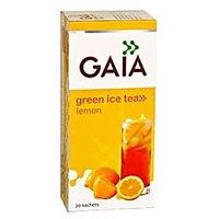 Gaia Lemon Green Ice Tea (20 Sachets) - Pack Of 2