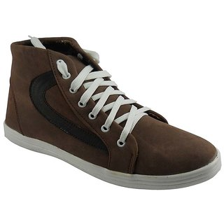 B3trendz Trendy Brown Lace Up Casual Shoes For Men