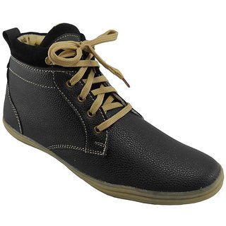 B3trendz Black Lace Up Casual Shoes For Men