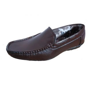 ShoeAdda Senior Casual Loafer Brown