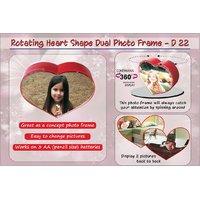 ideals - Rotating heart shape dual photo frame