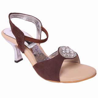 Smalto Copper News Adda Hard Buttom Party Wear Sandal For Women