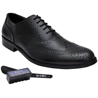 Bxxy Genuine Leather Black Brogue Formal Shoes