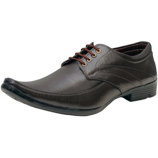 00RA Brown With Fine Lining Design Lace Up Formal Shoes  For Men