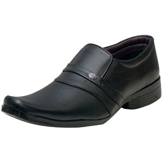 00RA Black Cobra Slip On Formal Shoes For Men