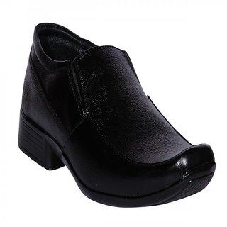 Funku Fashion Black Slip On Leather Shoes