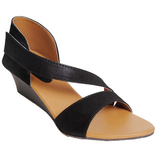 Frankfurt Black Stylish Party Wear Black Heels