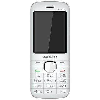 Adcom X21 (ELEGANCE) Dual Sim Mobile- White (White)