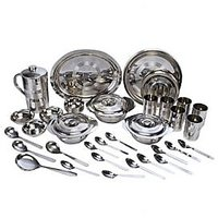 7 Days 51 Pcs Stainless Steel Dinner Set R