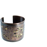 Stunning Antique Brass Beautiful Cuff Bracelet
