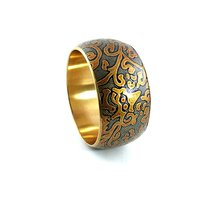 Handmade Golden Tonned Bangle Bracelet
