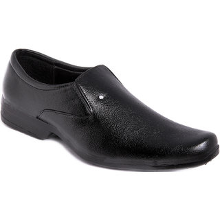 Azazo Men Black Slip On Formal Shoe